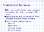 commitment to group