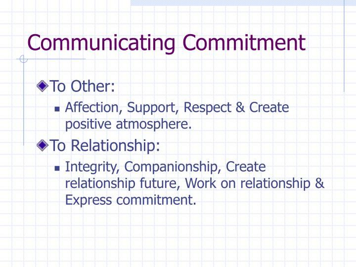 Communicating Commitment