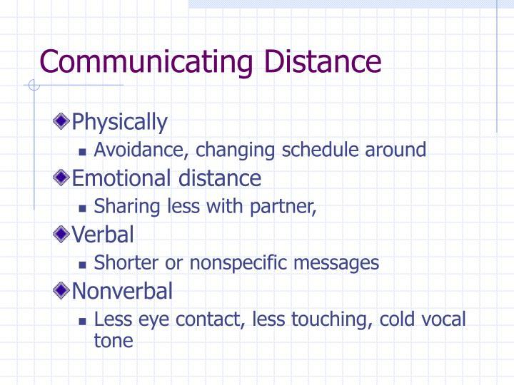 Communicating Distance
