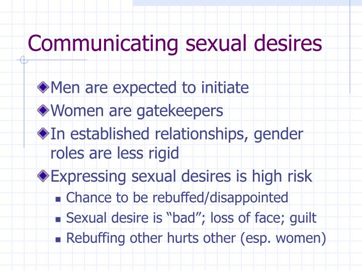 Communicating sexual desires