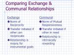 comparing exchange communal relationships