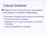 cultural guidelines