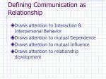 defining communication as relationship