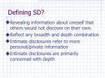 defining sd