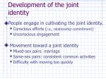 development of the joint identity
