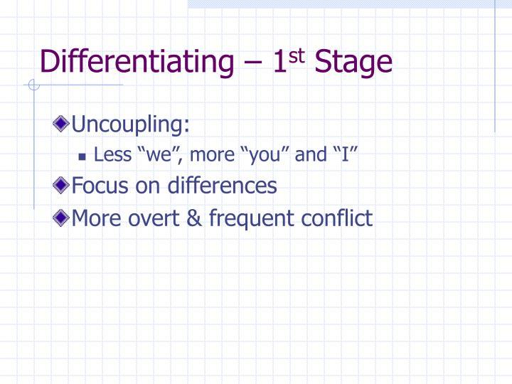 Differentiating – 1