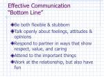 effective communication bottom line