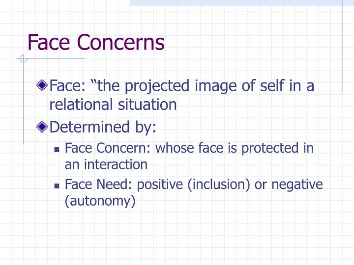 Face Concerns