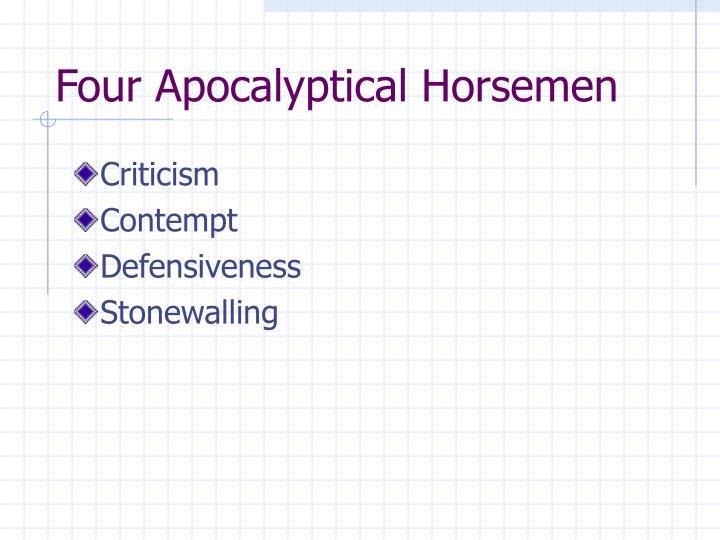 Four Apocalyptical Horsemen