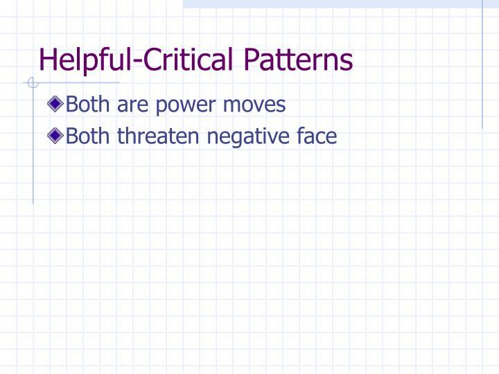 Helpful-Critical Patterns