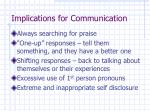 implications for communication2