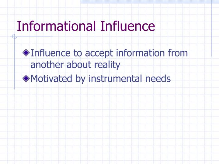 Informational Influence