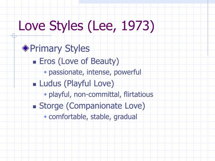 Love Styles (Lee, 1973)