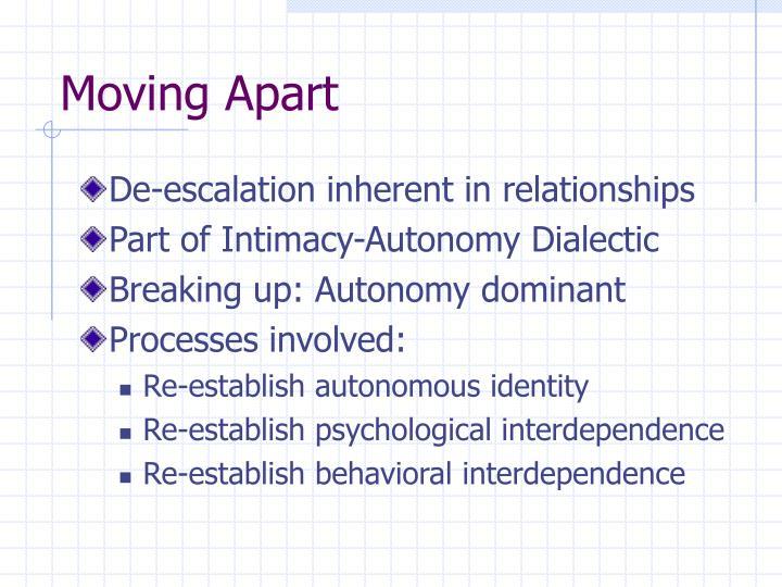Moving Apart