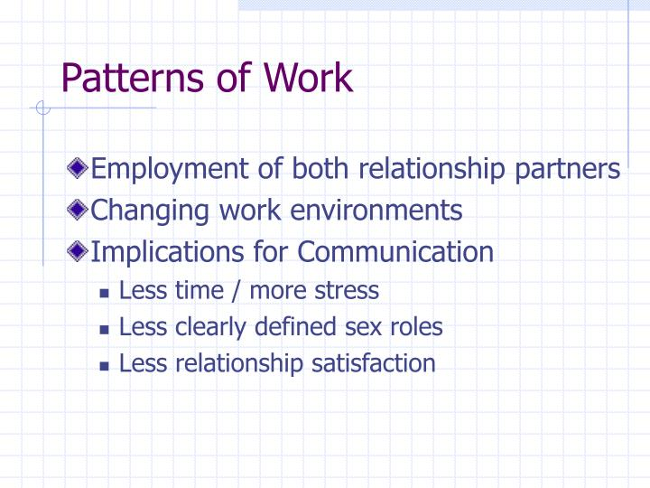 Patterns of Work