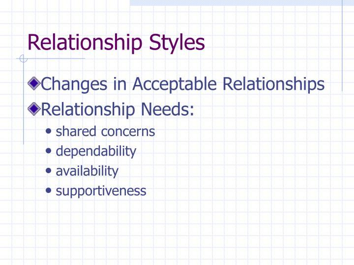 Relationship Styles