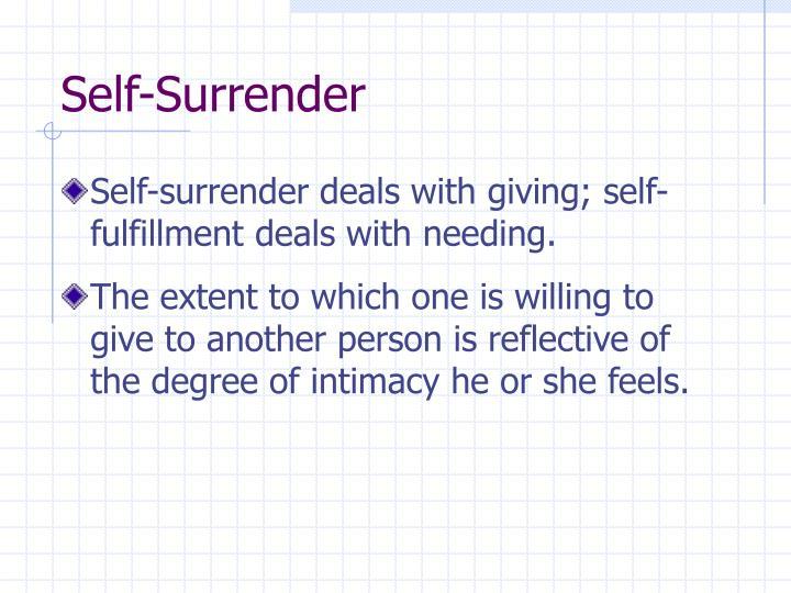 Self-Surrender