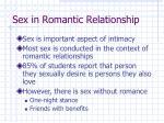 sex in romantic relationship