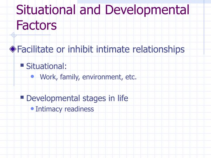 Situational and Developmental Factors