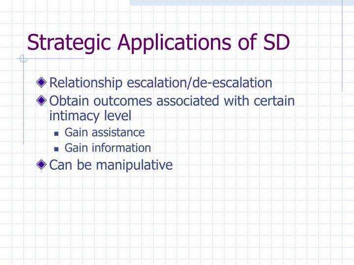 Strategic Applications of SD
