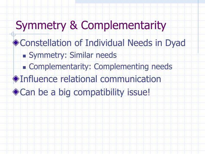 Symmetry & Complementarity