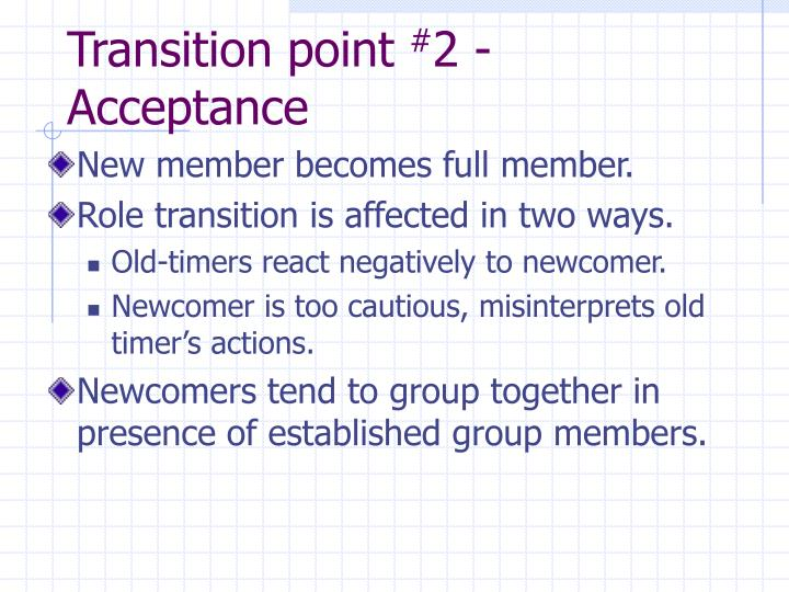 Transition point