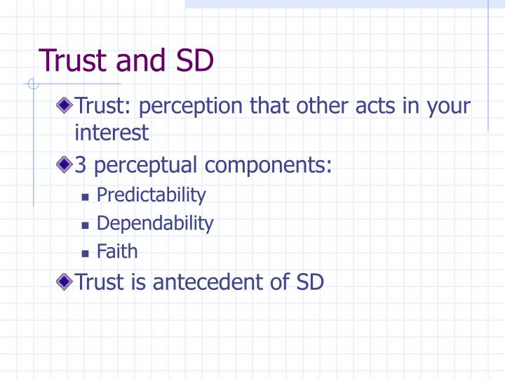 Trust and SD