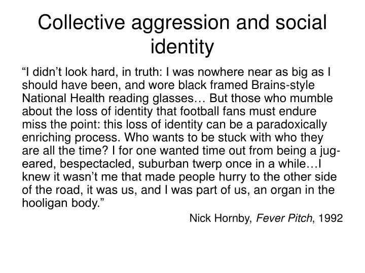 Collective aggression and social identity