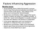 factors influencing aggression6