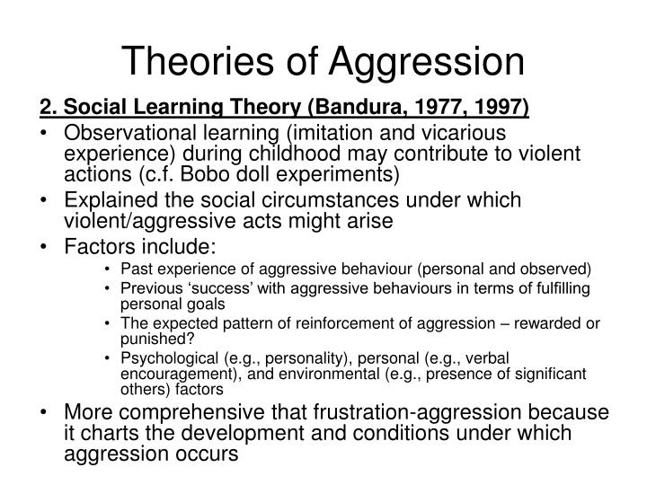 Theories of Aggression