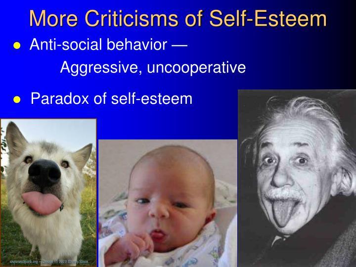More Criticisms of Self-Esteem