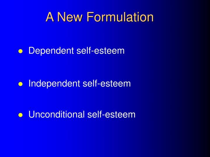 A New Formulation