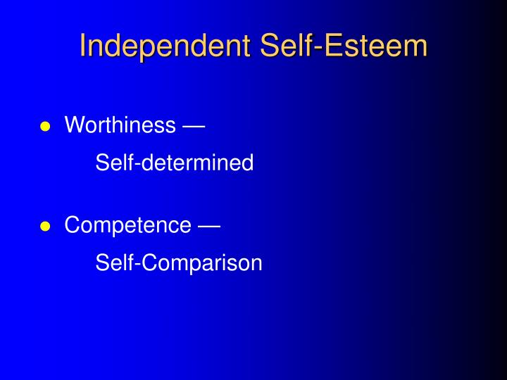 Independent Self-Esteem