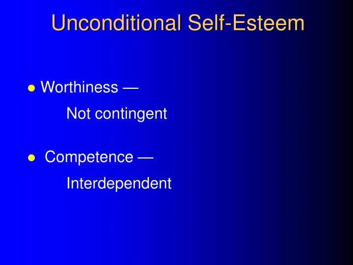 Unconditional Self-Esteem