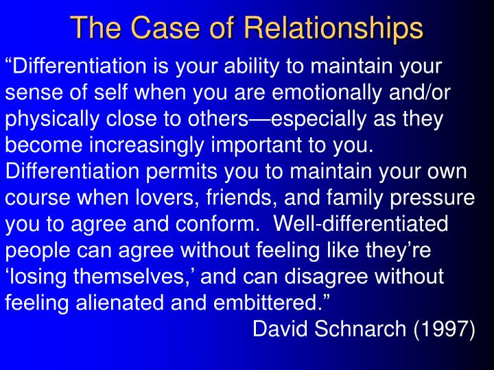 The Case of Relationships