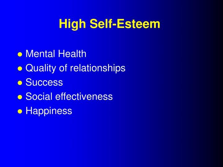 High Self-Esteem