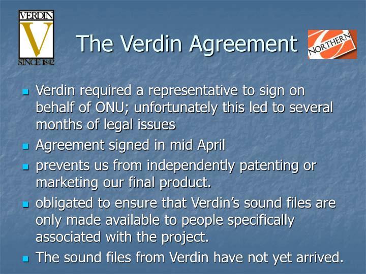 The Verdin Agreement