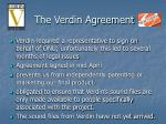 the verdin agreement