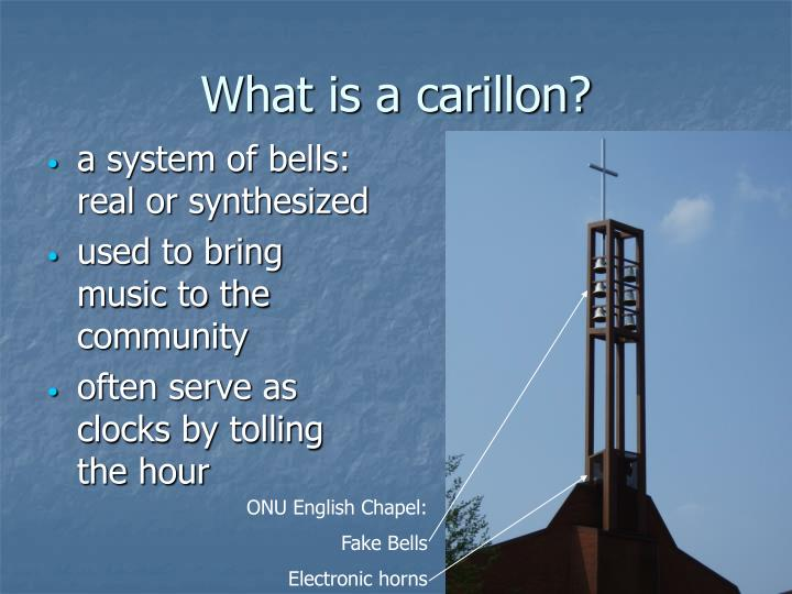 What is a carillon?
