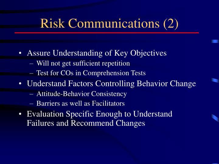Risk Communications (2)
