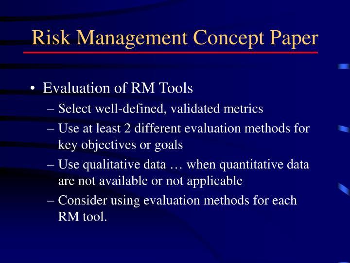 Risk Management Concept Paper