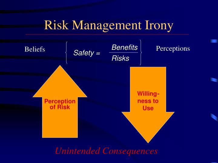 Risk Management Irony