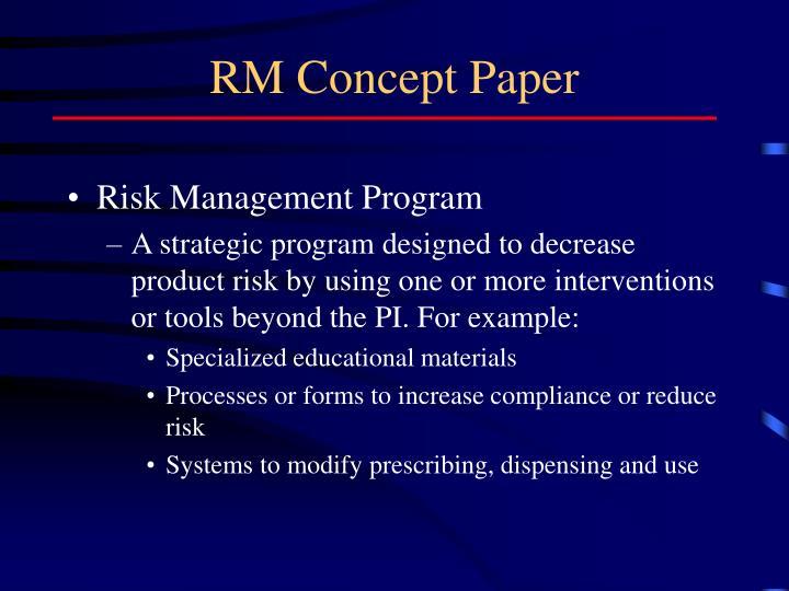 RM Concept Paper