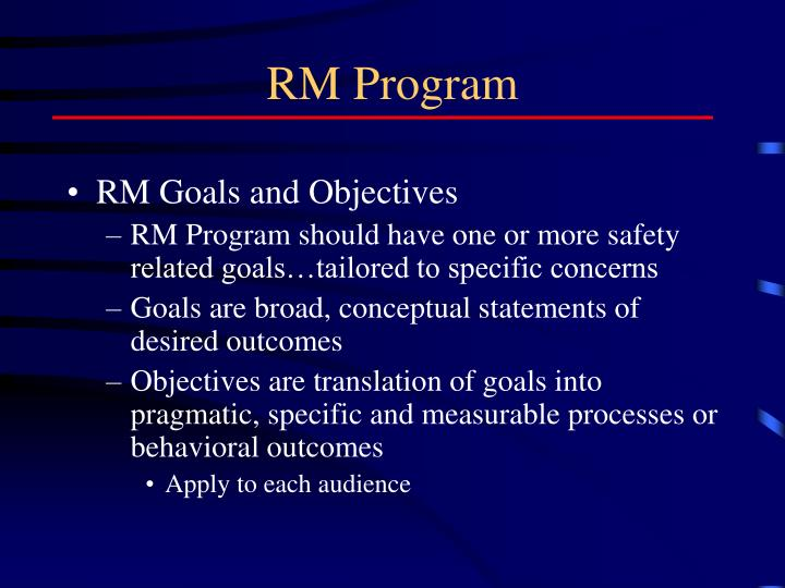 RM Program