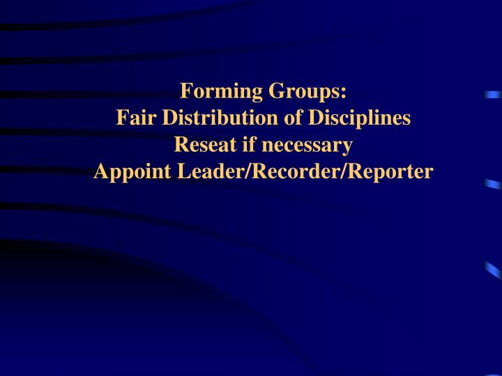 Forming Groups: