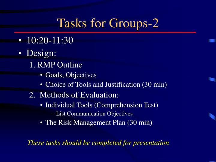 Tasks for Groups-2