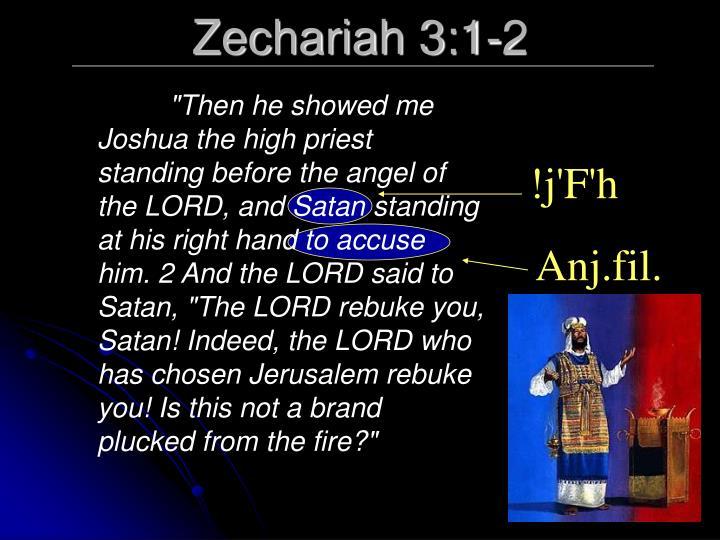 Zechariah 3:1-2