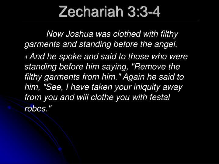 Zechariah 3:3-4