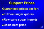 support prices