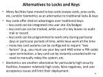 alternatives to locks and keys
